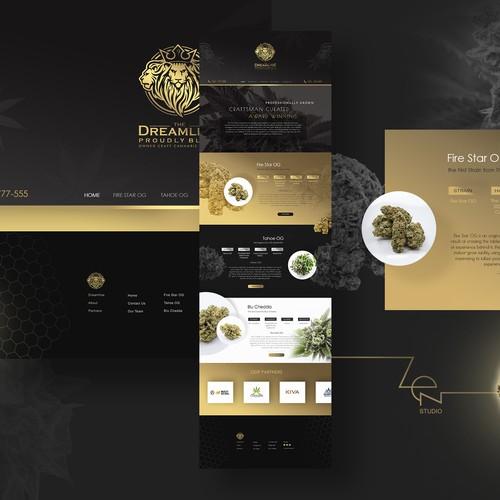 Webpage design for The Dreamline