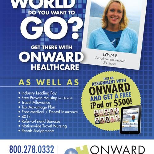 Advertisement for ONWARD HEALTHCARE