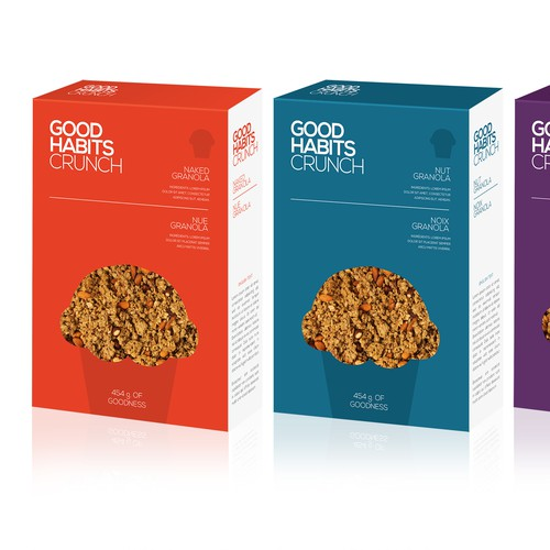 Design a stand out bag for Good Habits Crunch Granola
