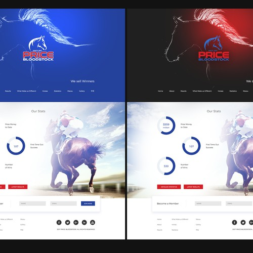 Horse breeders/trainers Landing Page