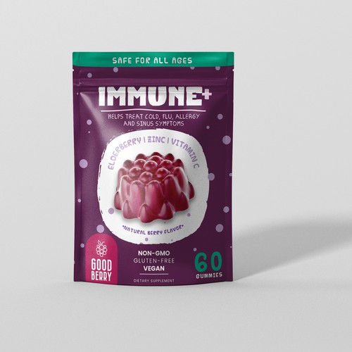 Edelberry Gummies package design