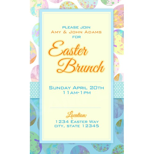 Online Easter Brunch Invitation