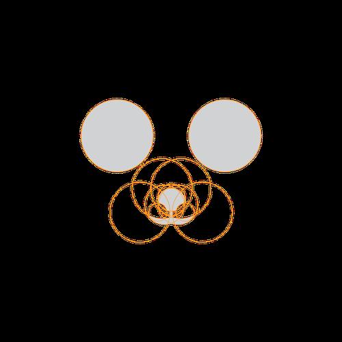 simple & elegant logo for social media panda