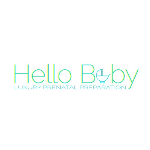 clean logo for luxury baby brand