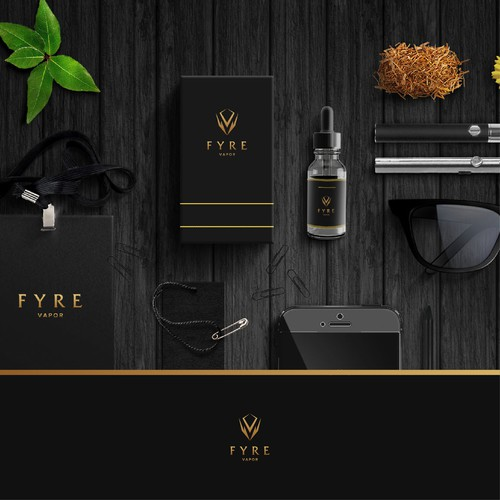 FYRE VAPOR Logo Design