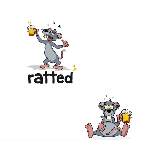 Design a rat character for a drinking app