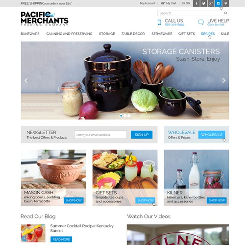 Webstore design for a lifestyle company