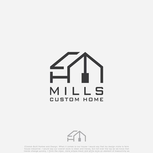 "logo concept for ""MILS CUSTOM HOMES"""