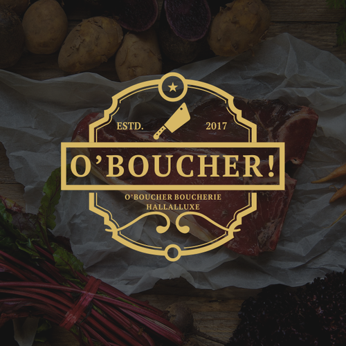logo for french butcher