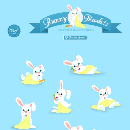 Create the next illustration for bunny-blankets.com