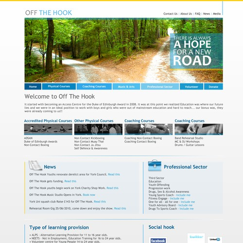 Clean Crisp & Simple Web Page Design For Registered Charity Site