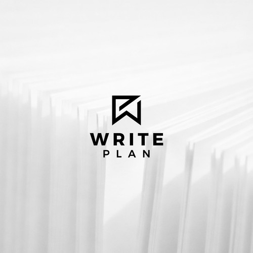Monogram logo design for Write Plan.