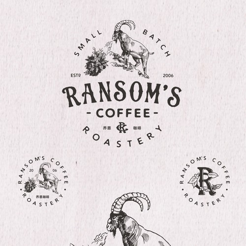 logo for RANSOM'S COFFEE