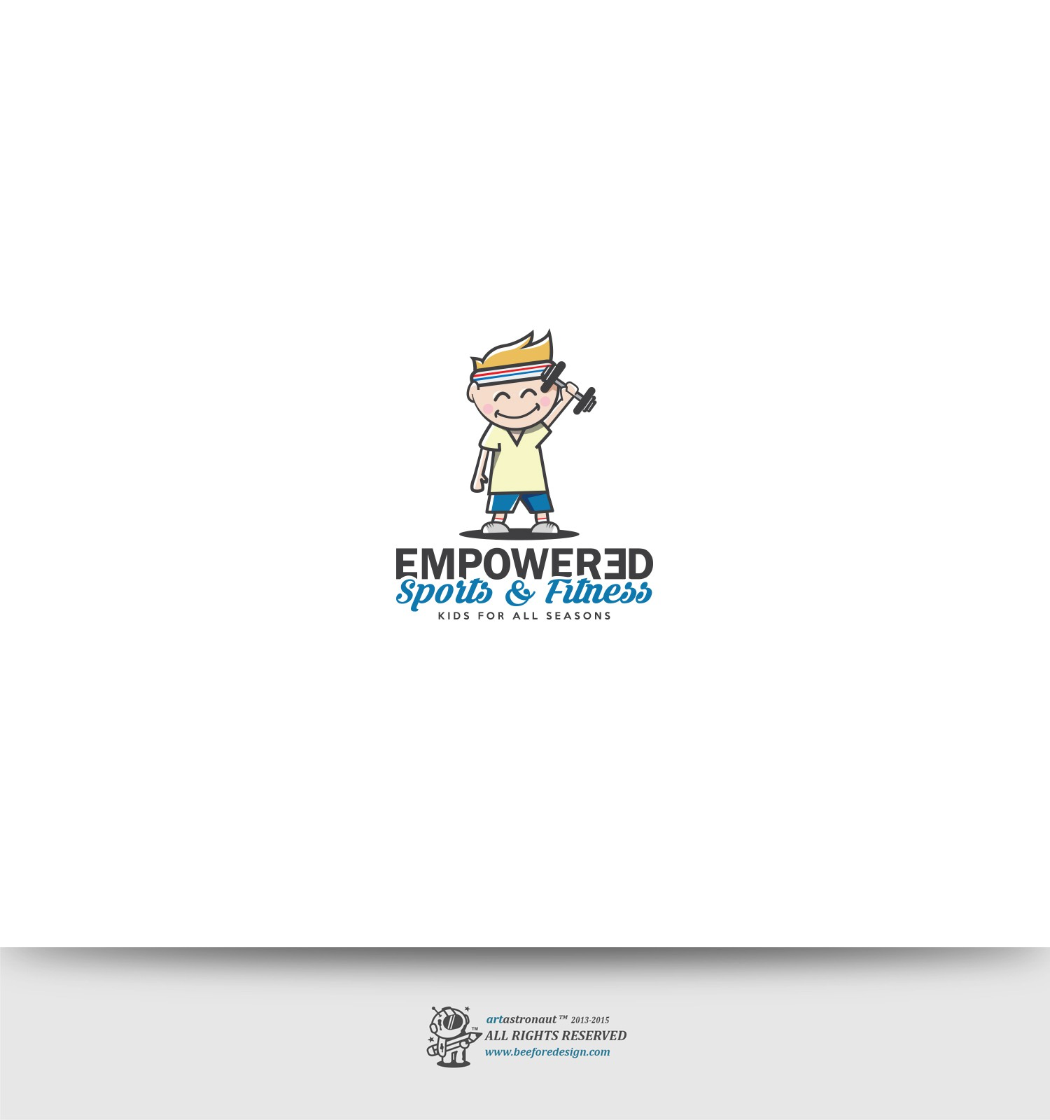 logo for a fitness program specializing in creative games to engage special needs children