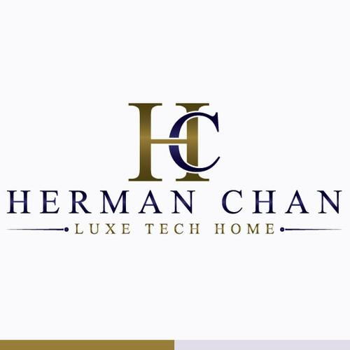 Design Luxury logo for Real Estate Broker & Media Peronality Herman Chan/Herman/HC