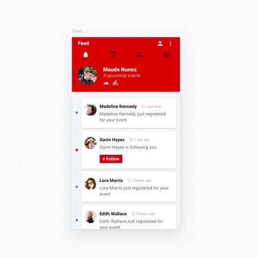 App design-Sport Social Platform