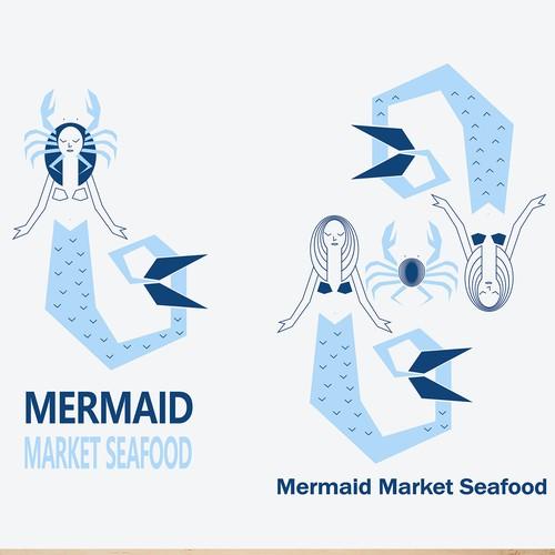 Mermaid Market Seafood design