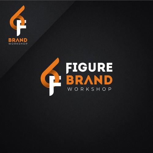 6F Figure Brand Workshop Concept Logo