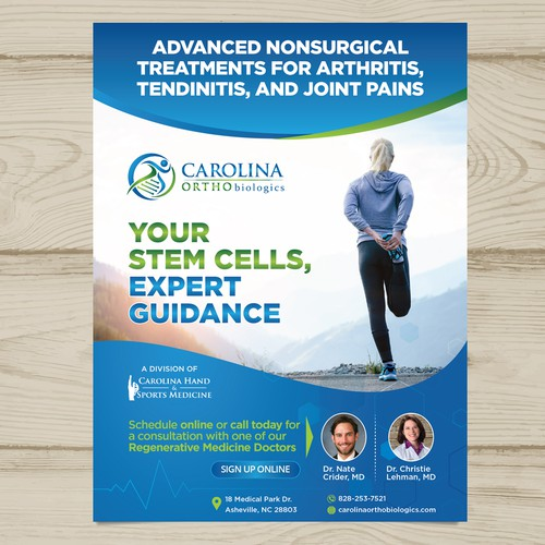 Regenerative Medicine Practice needs a playbill ad