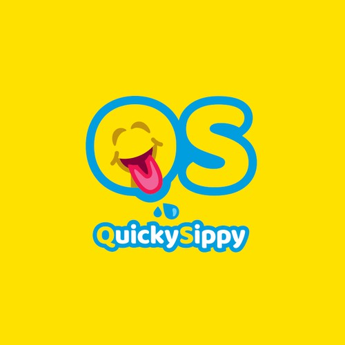 A logo for a children's sippy cup