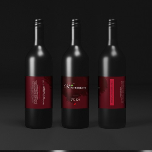 Design concept for Wine secrets.