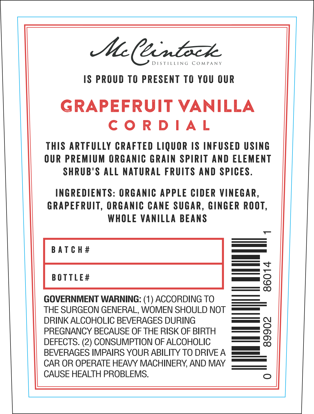 New Cordial (Grapefruit Vanilla)