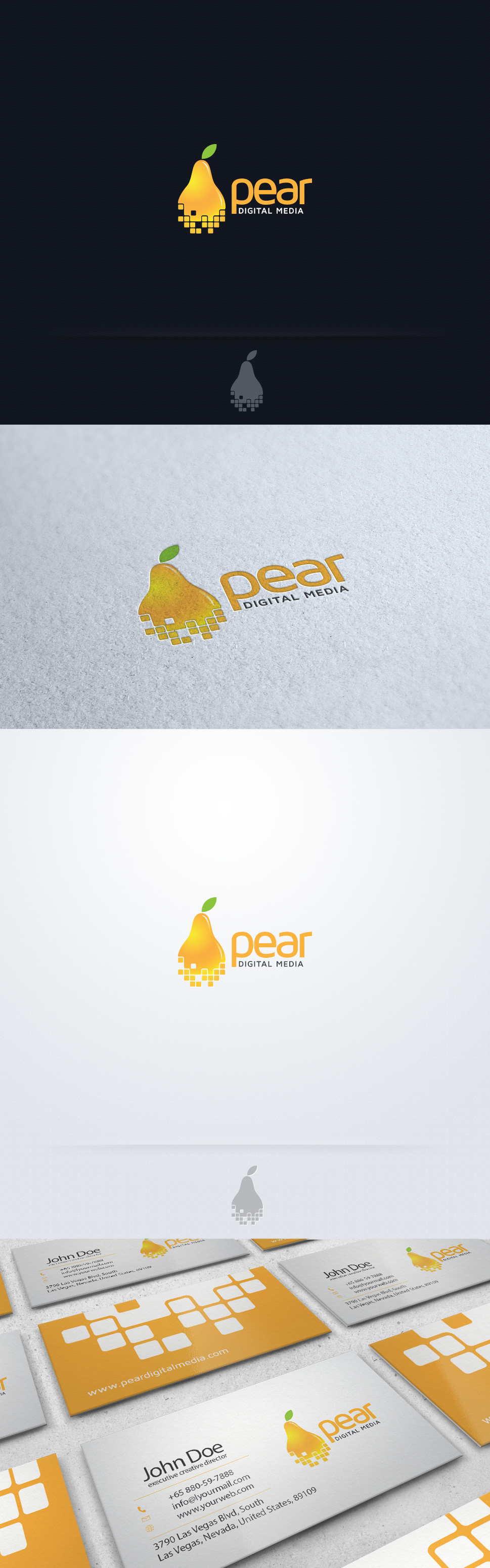 Help Pear Digital Media with a new logo and business card