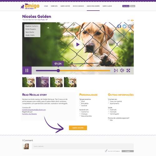 Make over the brazilian`s major Pet Adoption website design