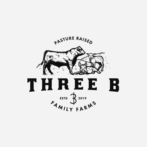 Hand drawn farm logo concept