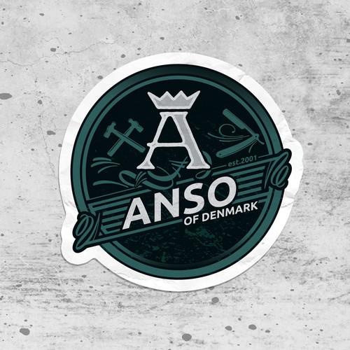 anso sticker design