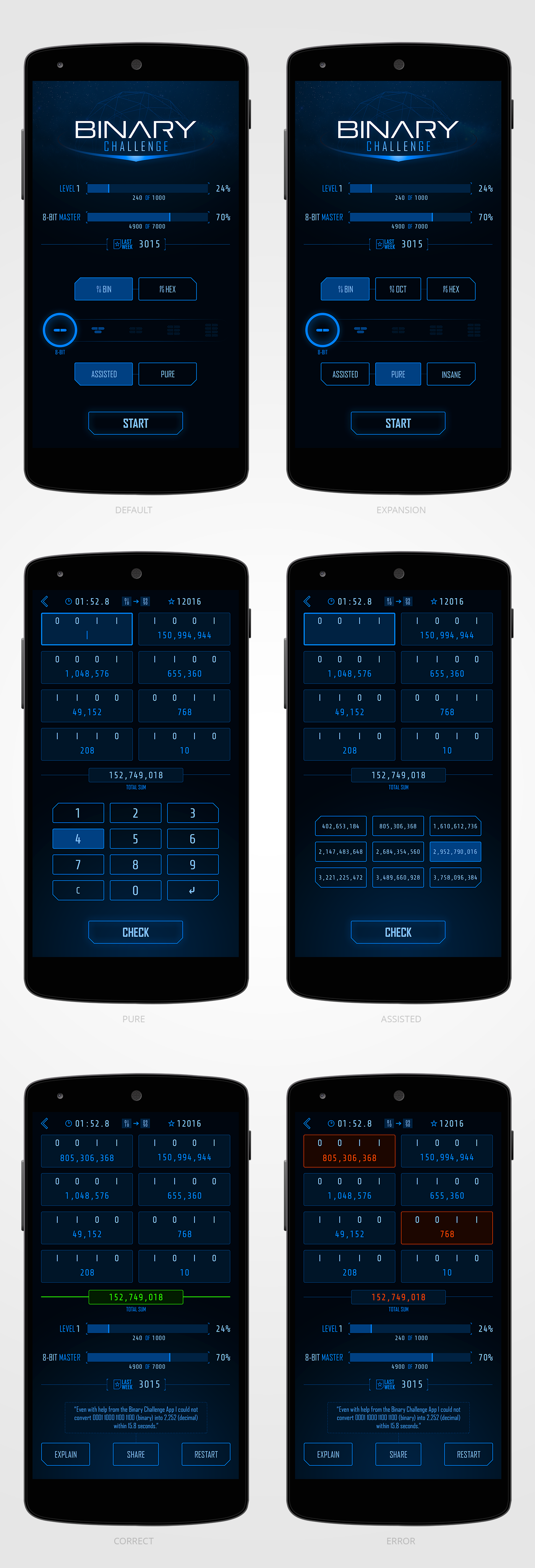 App Design - Binary Math-Game for Nerds