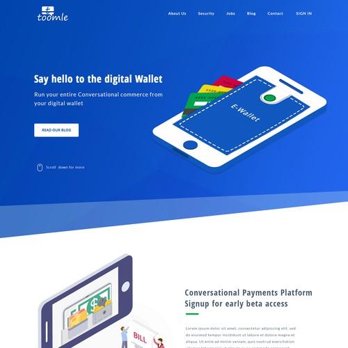 Wallet website