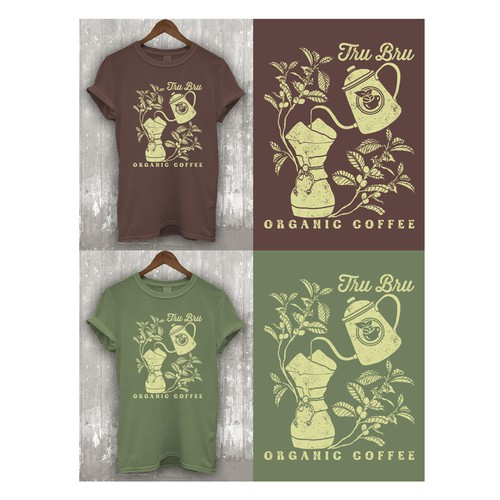Organic Coffee Shop Needs Shirts designed