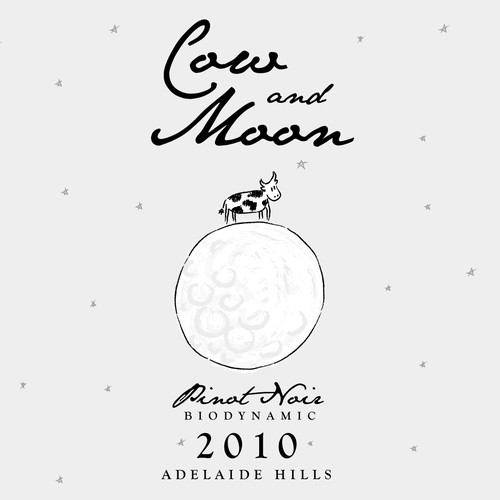 Cow and Moon Wine Label