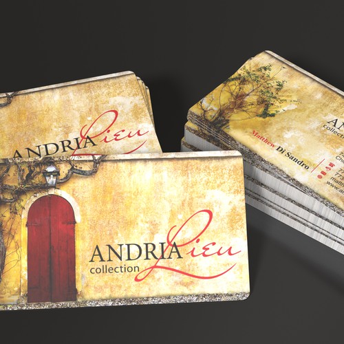 Create the next business card design for Andria Lieu