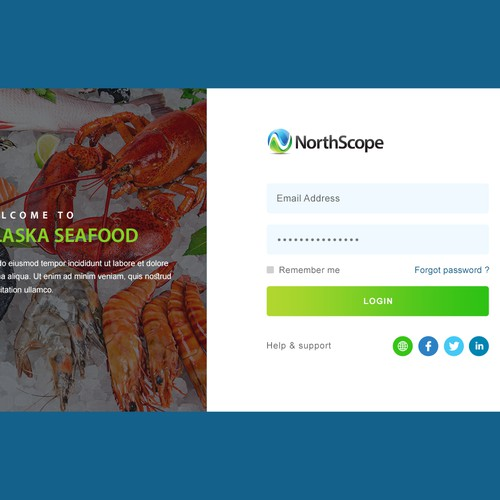 Login page design contest entry