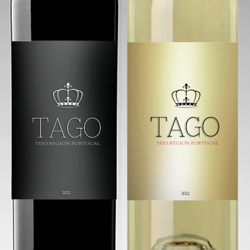 Authentic Portuguese wine label design