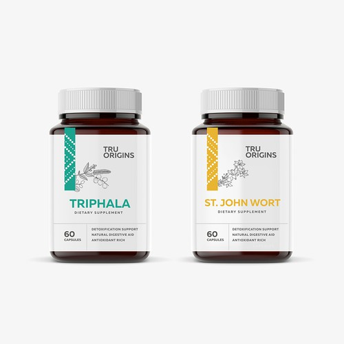 Packaging design for a supplement