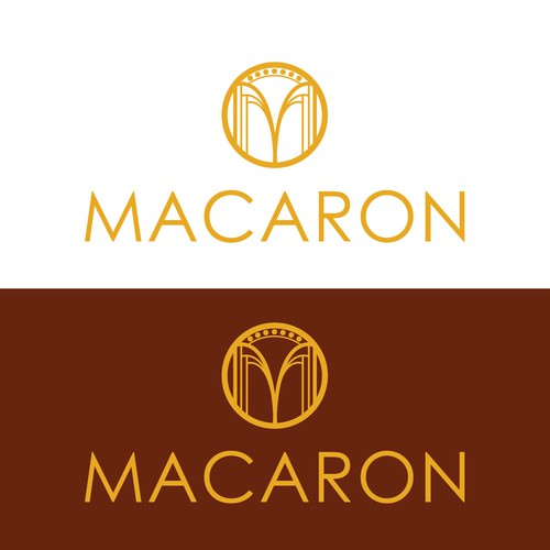 Art deco inspired confectionery logo