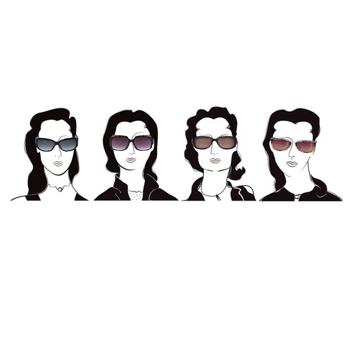 Illustrate Sunglass Styles for 4 Face Shapes