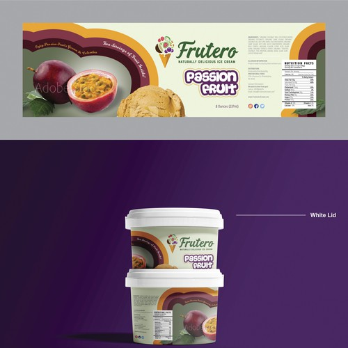 Package Design for Fruit-Flavored Natural Ice Cream (FRUTERO)