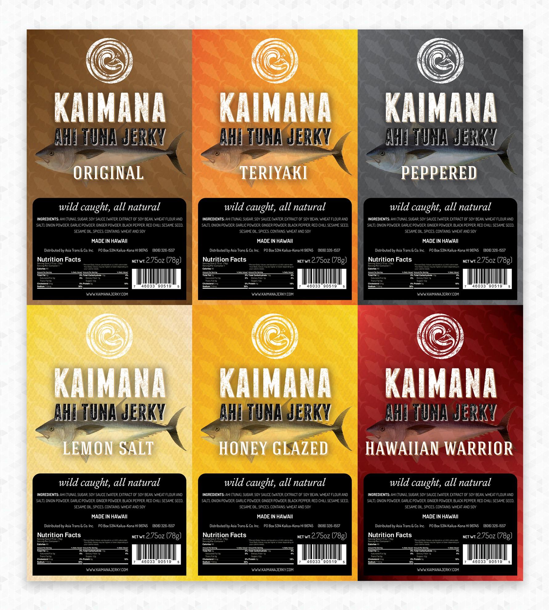New label for Kaimana Jerky!