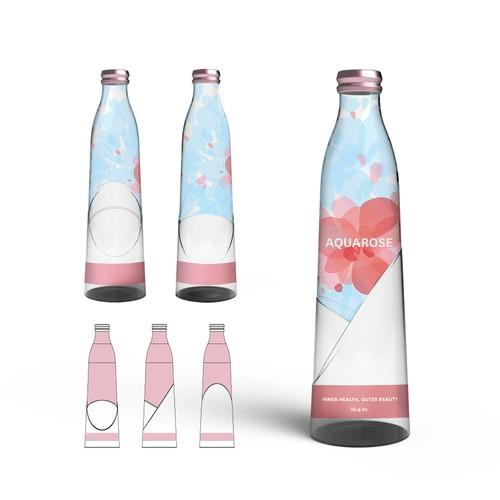 3D bottle design and label for up and coming plant based beverage (CADDesign)