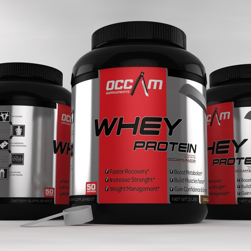 logo and label design for Occam Supplements