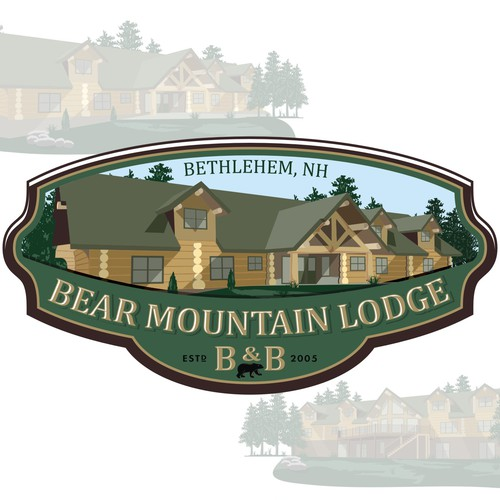 Logo for Bear Mountain Lodge B&B