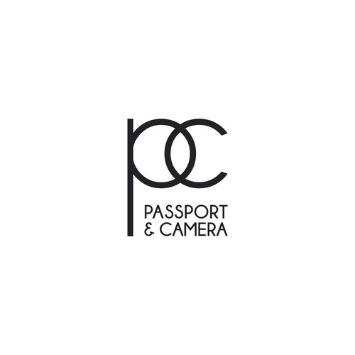 Minimal clean logo for photography