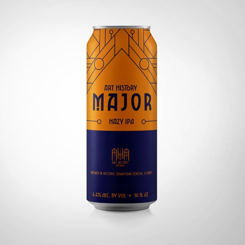 Color blocked beer can design