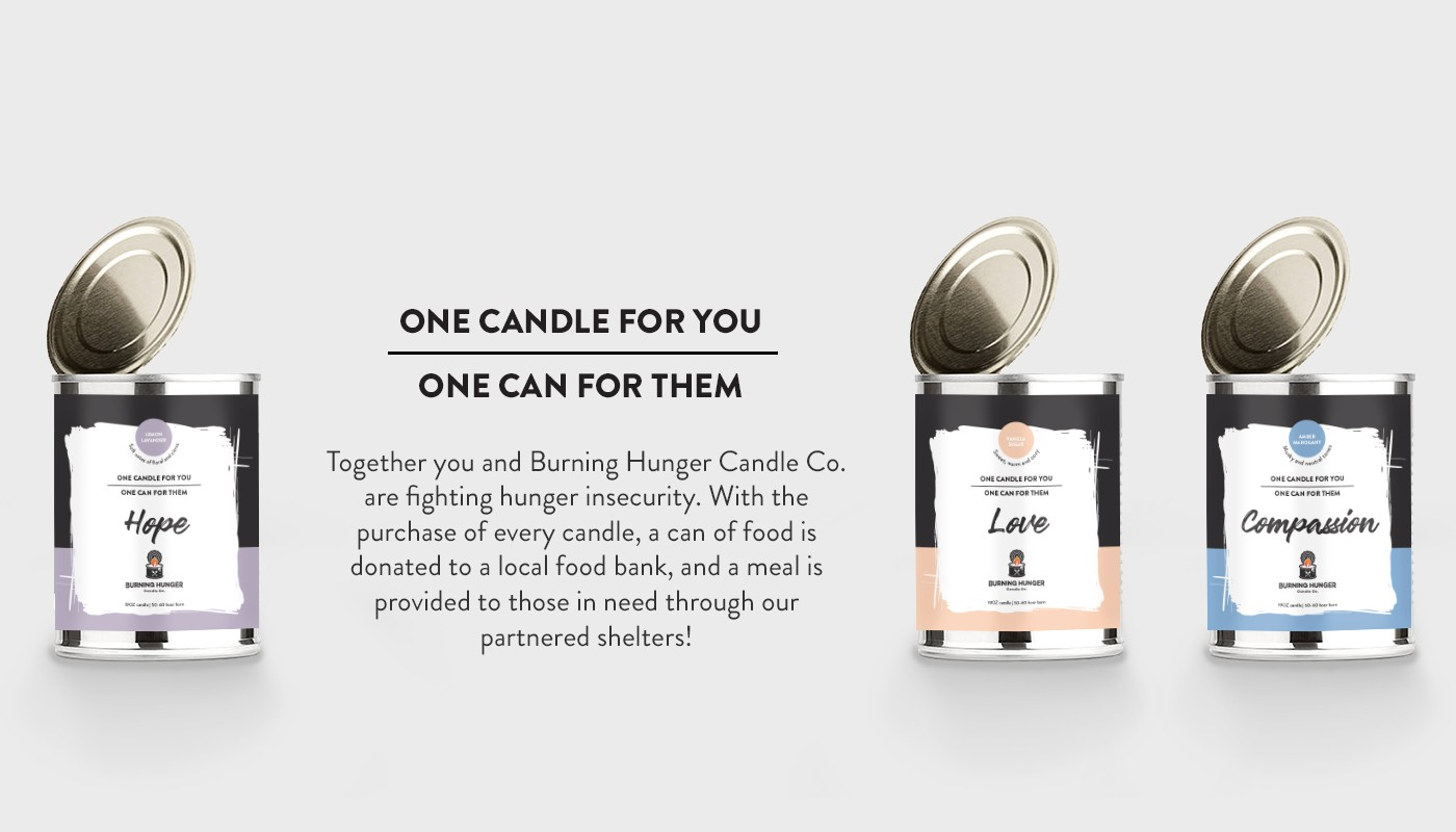 Packaging for a Candle Company that gives back