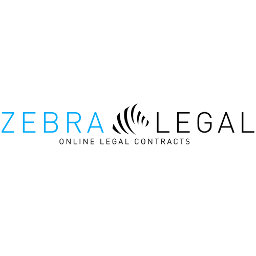 Create a simple, modern logo for zebralegal