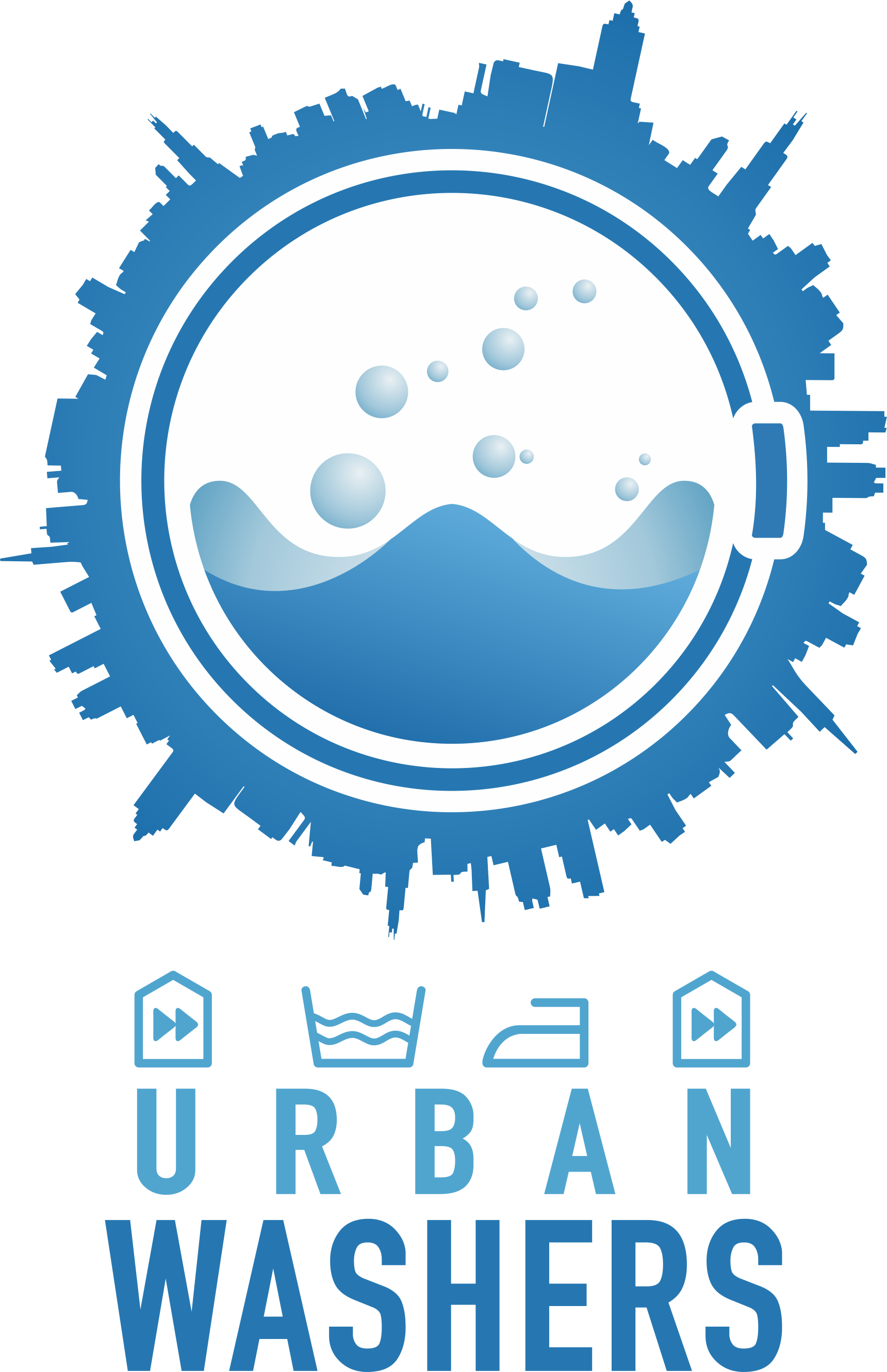 """Fresh and cool Logo for """"UrbanWashers"""""""